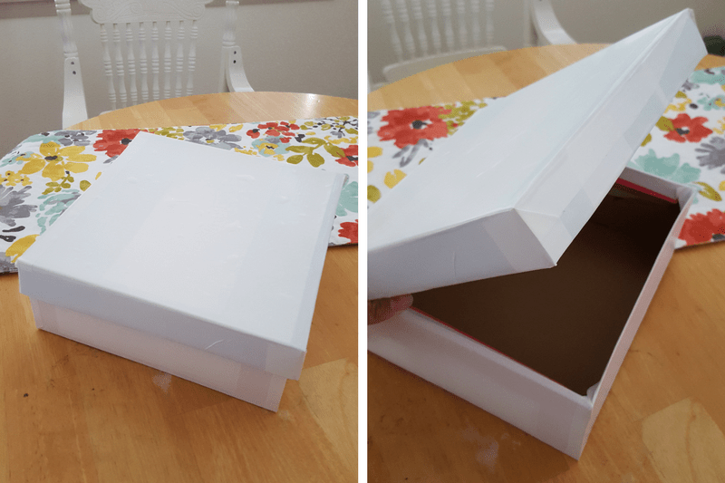 Upcycle Shoe Box Easy DIY for Spring Storage Solution