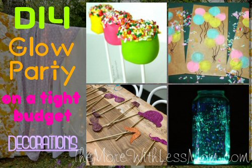 Glow Party Teen Birthday Decorations