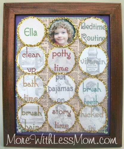 Free Printable Vintagesque Bedtime Routine