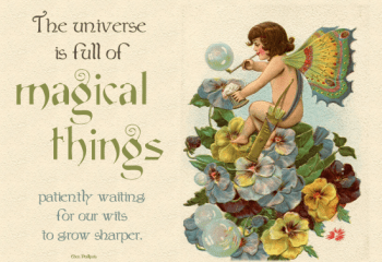 The Universe is Full of Magical Things from The More With Less Mom