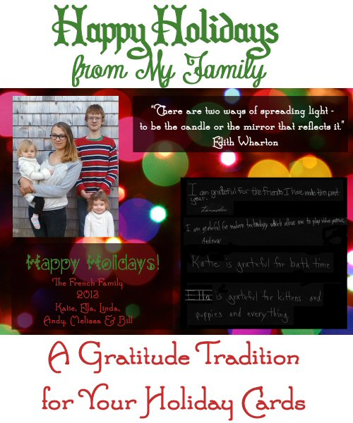 Happy Holidays from My Family – A Gratitude Tradition for Your Holiday Cards