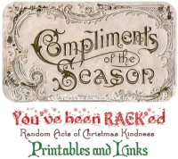 Random Acts of Christmas Kindness Advent Calendar – RACK Printables, Cover Photos, and Links