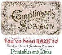 Random Acts of Christmas Kindness Advent Calendar – RACK Printables, Cover Photos, and Links