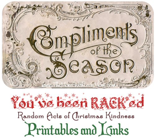 Random Acts of Christmas Kindness Advent Calendar - RACK Printables, Cover Photos, and Links from The More With Less Mom
