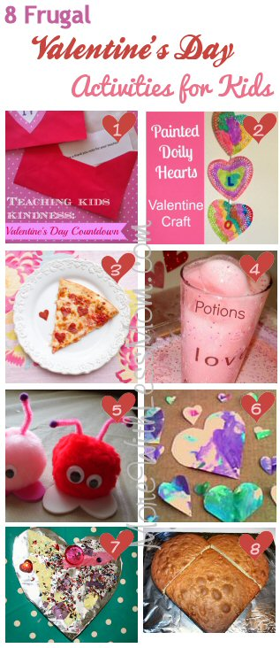 8 Frugal Valentine's Day Activities for Kids from The More With Less Mom