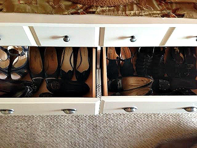 sauder shoe storage 2 drawers