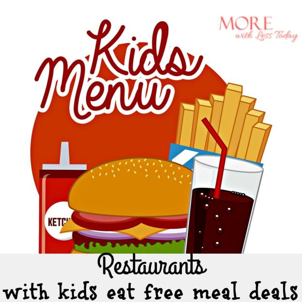 Here is a fantastic list of kids eat free meal deals at favorite restaurants. Save this and dine out with your kids for less.