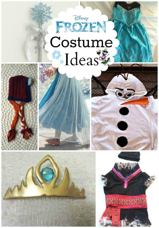 DIY Frozen Costume, how to DIY Elsa costume, Olaf Halloween costume, Frozen costume ideas, thrift store Frozen costume, Kristoff from Frozen costume