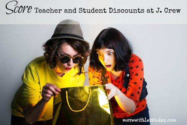 j crew teacher and student discounts