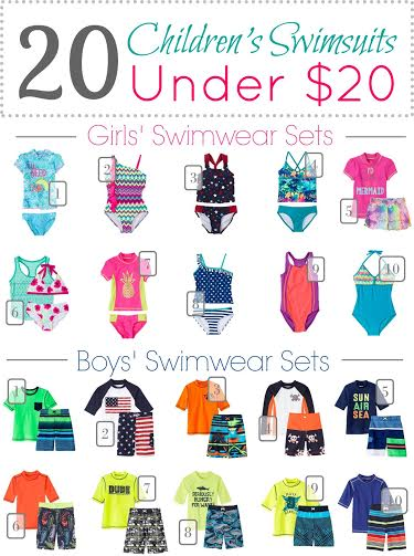 childrens swimwear under 20