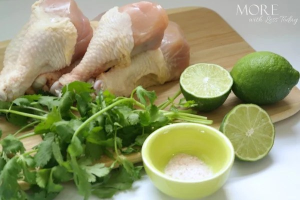 Cilantro Lime Grilled Chicken Drummies