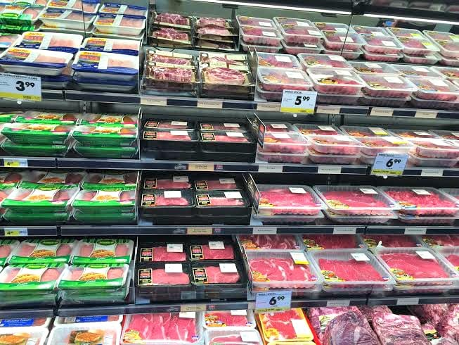 selection of meat and poultry smart & final