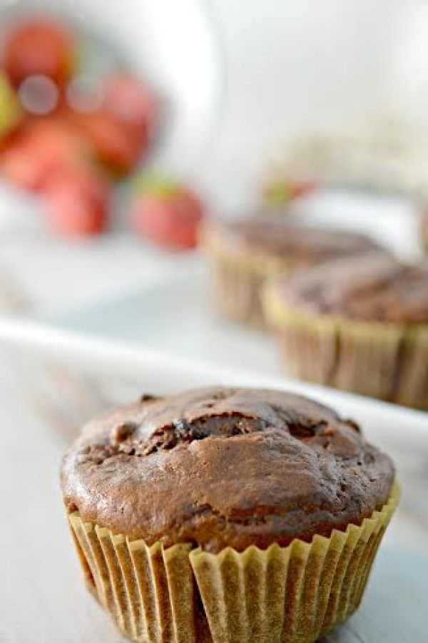 strawberry chocolate muffins -6