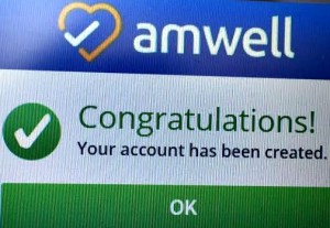 the amwell sign up