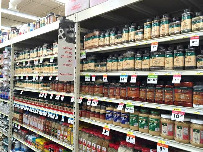 the well stocked aisles at smart & final