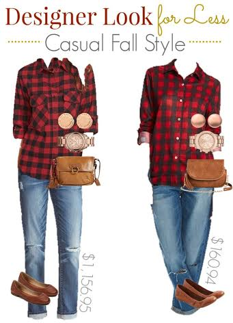 designer look for less, fall style on a budget, high low fashion, red plaid shirt, Nordstrom fashion
