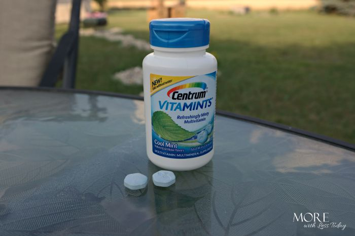 Centrum® new VitaMints® chewable vitamin with a minty taste, new Centrum® VitaMints®