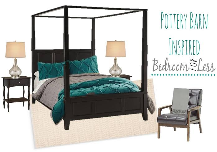 Are you looking for lush Layered Bedroom Decor for Less? We put together a style board inspired by Pottery Barn. We love Pottery Barn style!