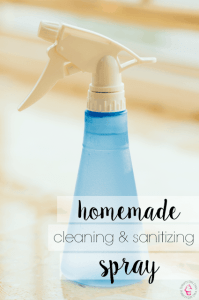 Natural Homemade Cleaning Sanitizing Spray