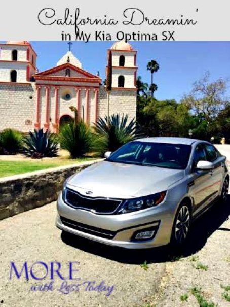 review of Kia Optima SX, road trip to Santa Barbara, luxury sedan at lower price, Kia Optima SX features