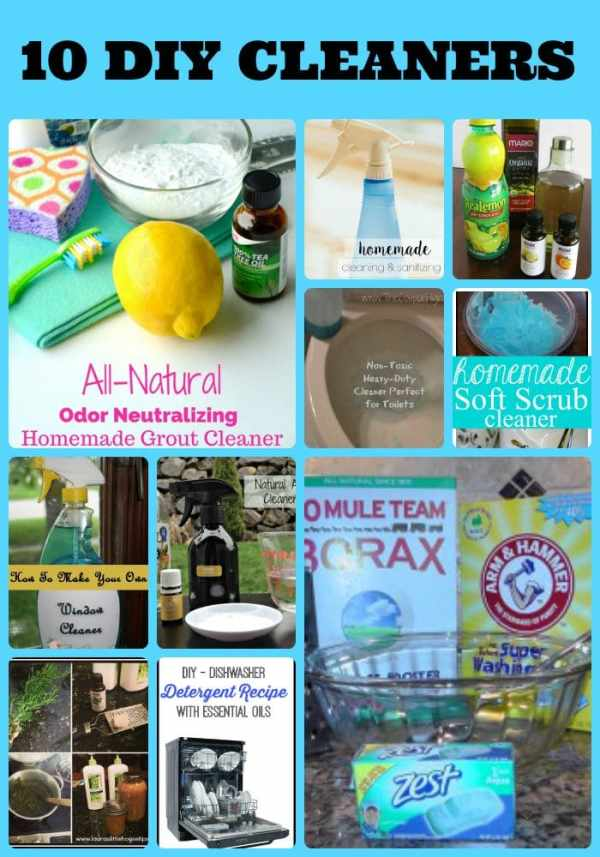 Want to move away from strong, noxious store bought cleaning products? Here are 10 DIY cleaning products you can make at home. These DIY cleaners cost too!