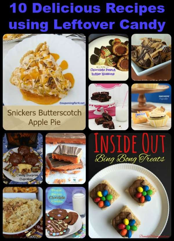 10 delicious recipes using leftover candy, recipes using Halloween candy, what to do with leftover Halloween candy, chocolate candy recipes, desserts with candy