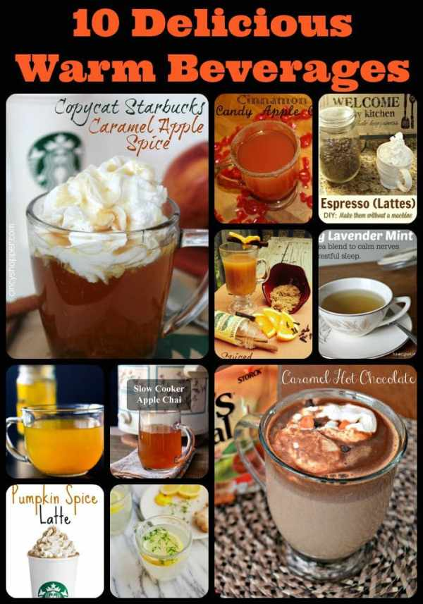 10 favorite recipes for delicious warm beverages, homemade pumpkin spice latte, copycat coffee shop drinks, copycat Starbucks drinks, homemade chai latte