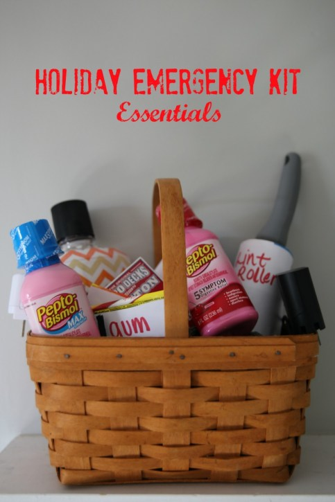 Holiday Emergency Essentials Kit, put together an emergency kit for the holidays, emergency kit at home, More With Less Today
