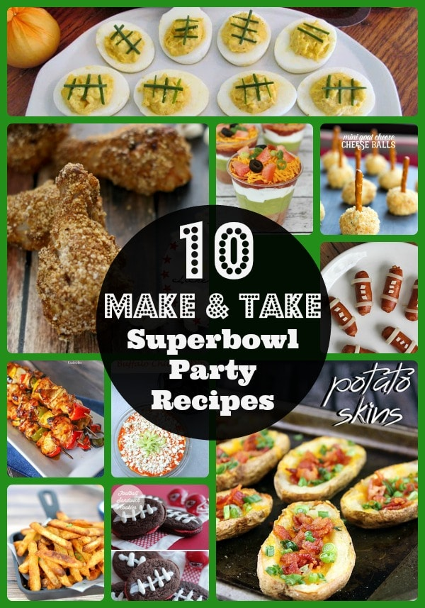 Easy make and take Superbowl party recipes, recipes for potlucks, what to bring to a Superbowl party, popular recipes for Super Bowl parties, pot luck ideas