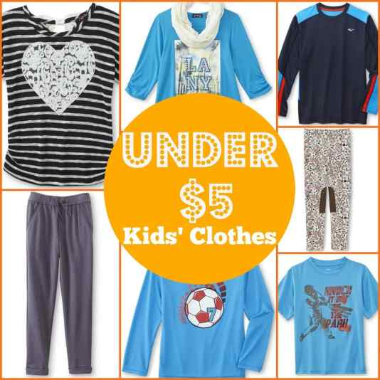 Are you looking to find new kids' clothes for under $5? We found a great source where you can save both time and money buying new clothes for the kids.