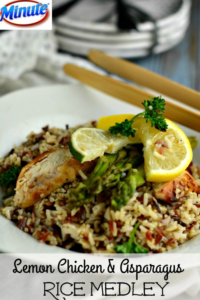 Lemon Chicken with Asparagus Rice Medley