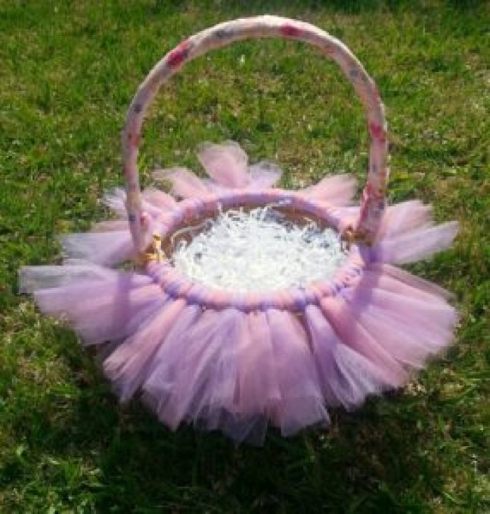 You can DIY a spectacular Easter Basket for your princess with just a few inexpensive items. This will also make a beautiful centerpiece.