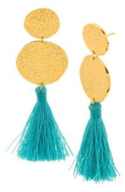 Gorjana tassel statement earrings