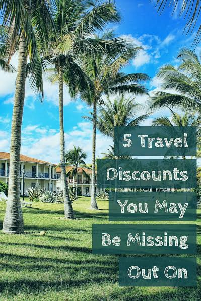 Are you looking to save some money when you travel? Here are 5 travel discounts you may be missing out on. Did you know about all of these ways to save?