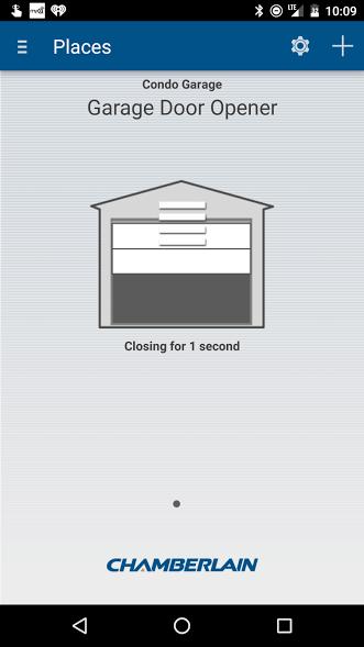 Chamberlains smart phone garage door opener