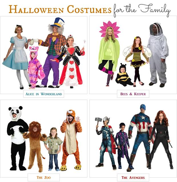 Are you looking for adorable family Halloween costumes you can buy online? We found 4 options for your family or a group that will make a great group photo.