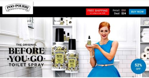 Poo Pourri spray seen on View Your Deal