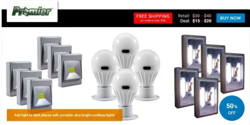 Promier light bulb seen on View Your Deal