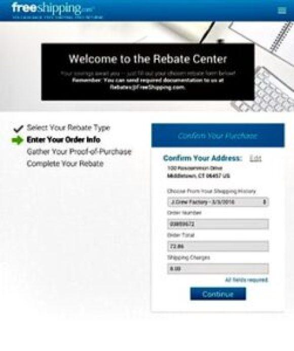 Cash back rebates of 10% at Free hipping.com Rebate Center
