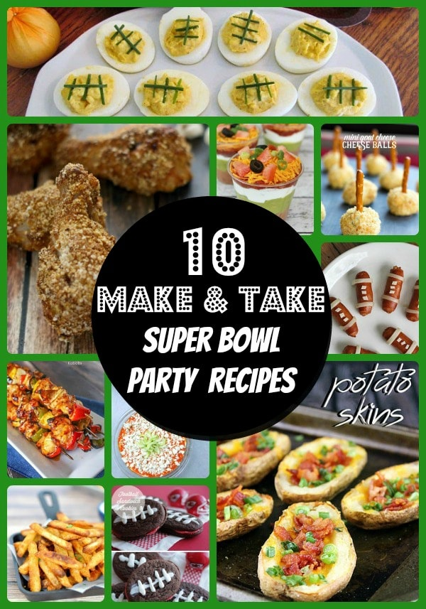 Are you looking for easy make and take recipes for the big game or for a potluck? We put together a round-up of easy recipes from favorite food bloggers.