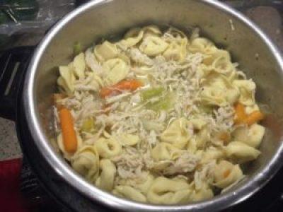 Chicken Tortellini Soup recipe made in an Insta Pot