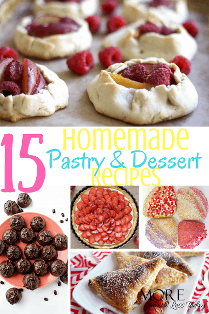 Looking for pastry and dessert recipes? We compiled 15 amazing pastry recipes you can make at home. Make extra, these are so good!