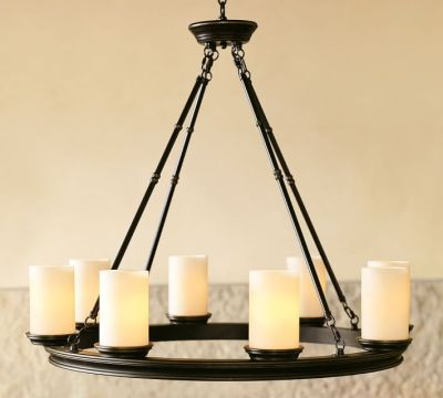 Pottery Barn Round Chandelier