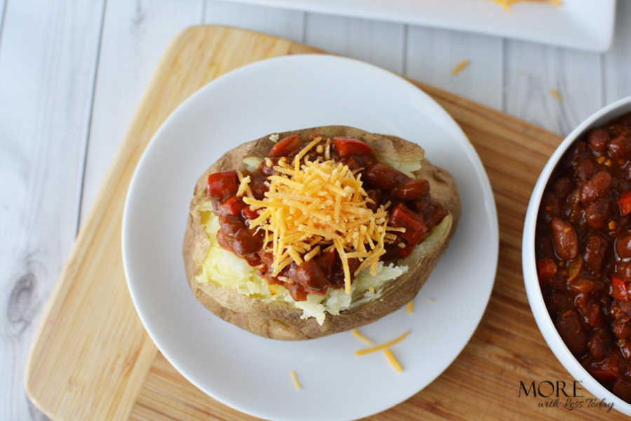 Chili, Beans, and Baked Potato Recipe