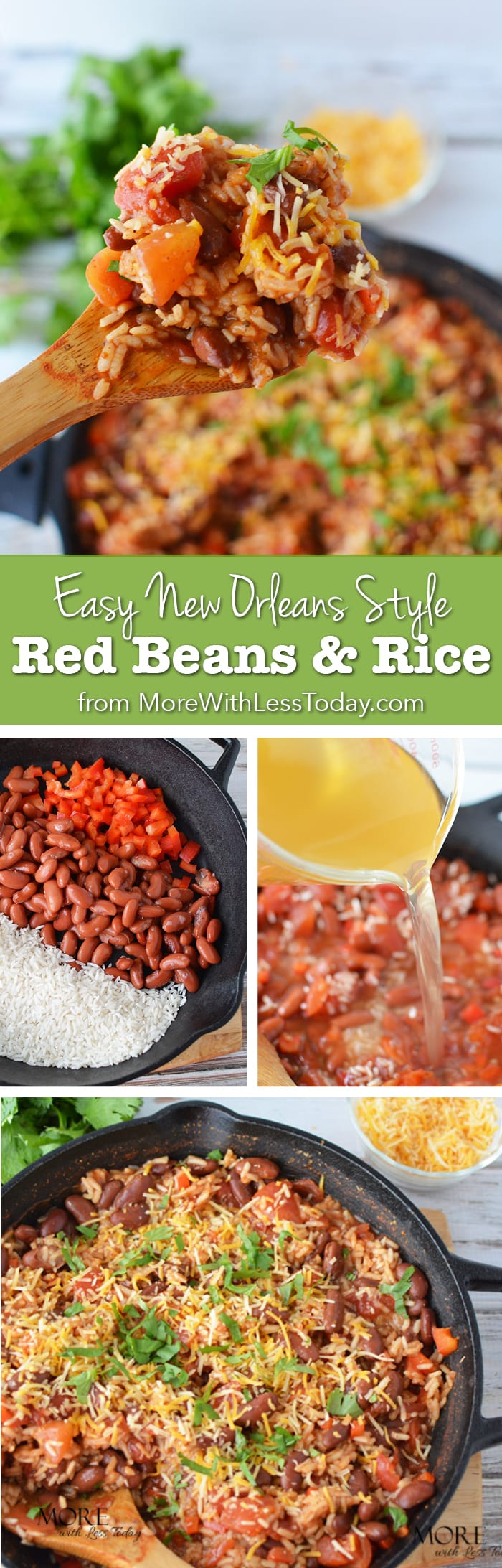 Pinterest recipe for Easy New Orleans Red Beans and Rice is a tasty meatless meal!