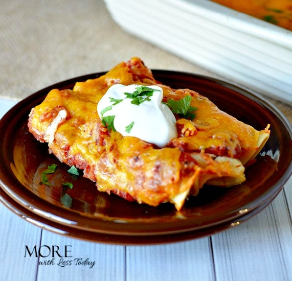 "Easy Chicken Enchiladas You Can Make Ahead - Step by Step Directions will make this a ""can't miss recipe"" everyone will love."