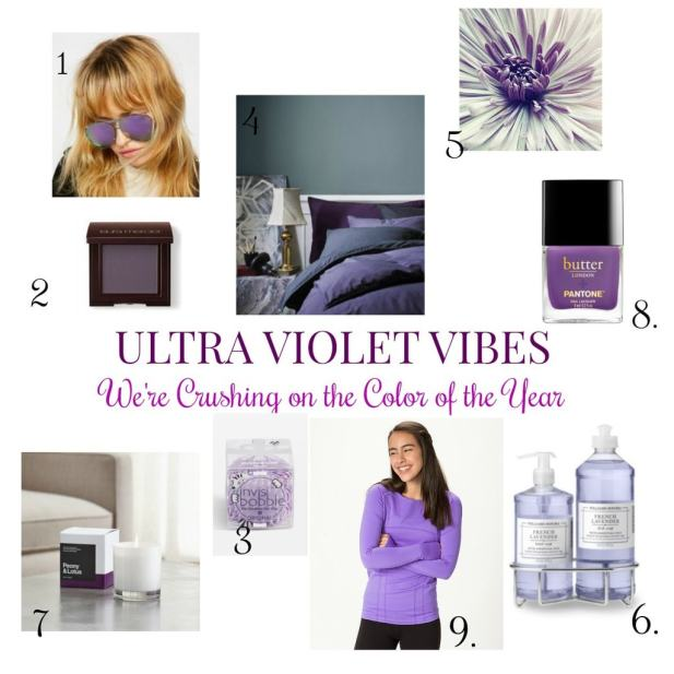Ultra Violet Vibes- We're Crushing on the Color of the Year! This beautiful color is be showcased in both fashion and decor. See how we are adding pops of color!