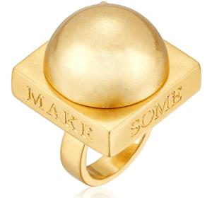 Dear Drew by Drew Barrymore Make Some Noise Oversized Ring