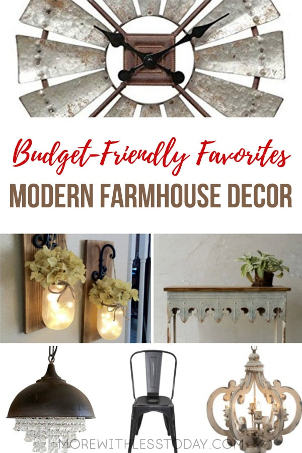 Do you love any and all things farmhouse? Are you like me and like the look of the old mixed in with the new? Here are some of my Modern Farmhouse Decor budget-friendly favorites. [commissionlink] #farmhousedecor #homedecor #budgetdecor