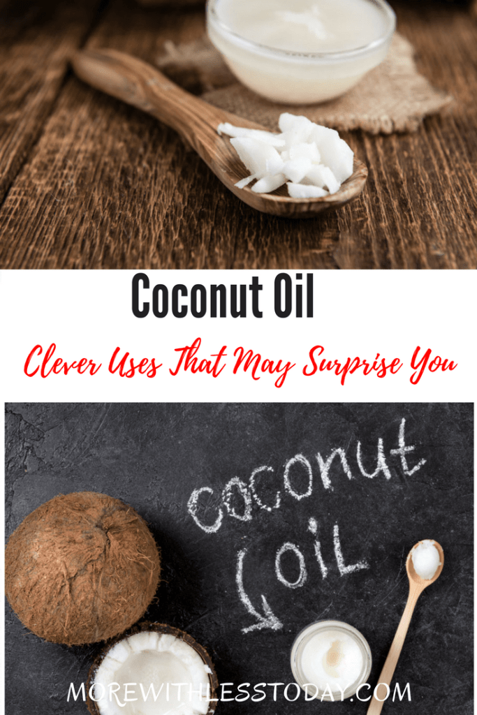 Clever Uses for Coconut Oil That May Surprise You. Coconut oil is an amazing product! Most of us know it's good for cooking with but there are so many other reasons to keep this gift from nature in your cupboard. Coconut oil has some wonderful health and practical properties too. Check them out.